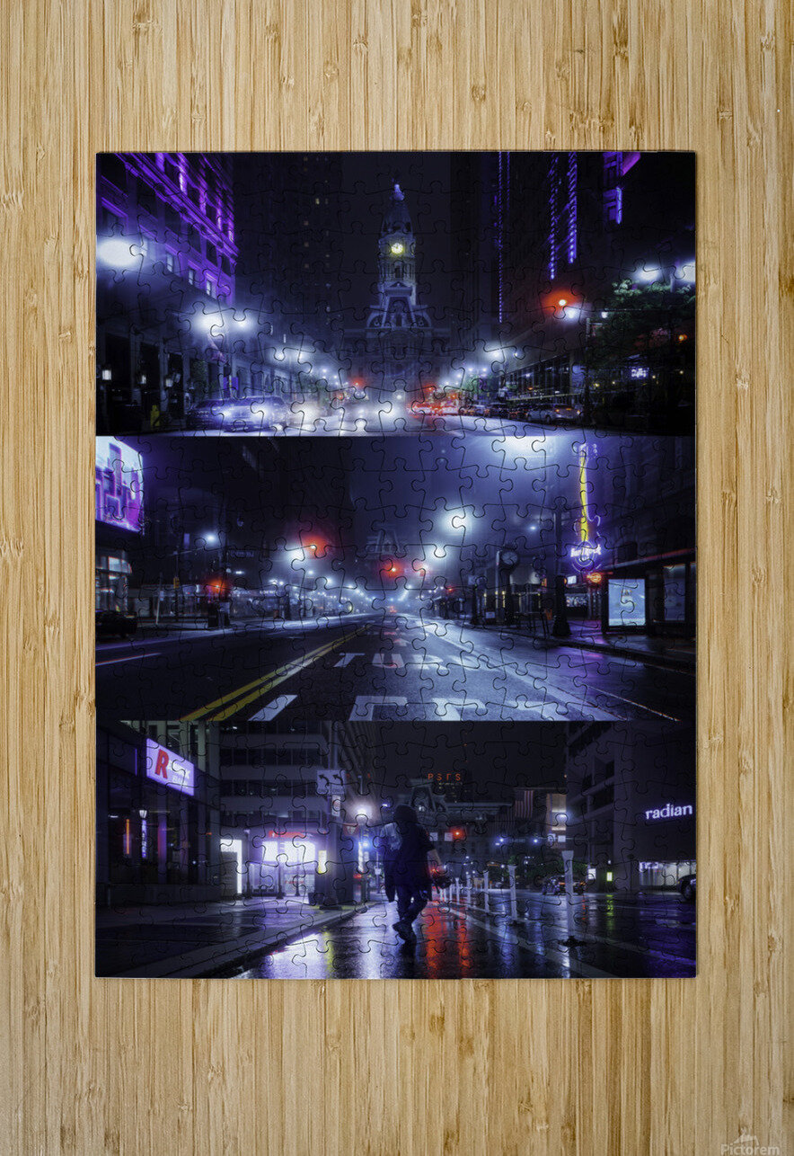 Electric City  HD Metal print with Floating Frame on Back