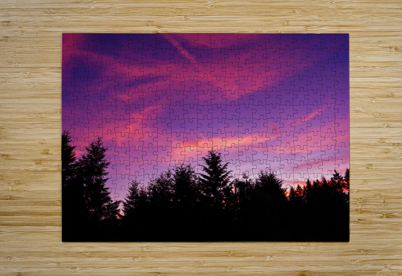 Summer Sunset Pacific Northwest United States  HD Metal print with Floating Frame on Back
