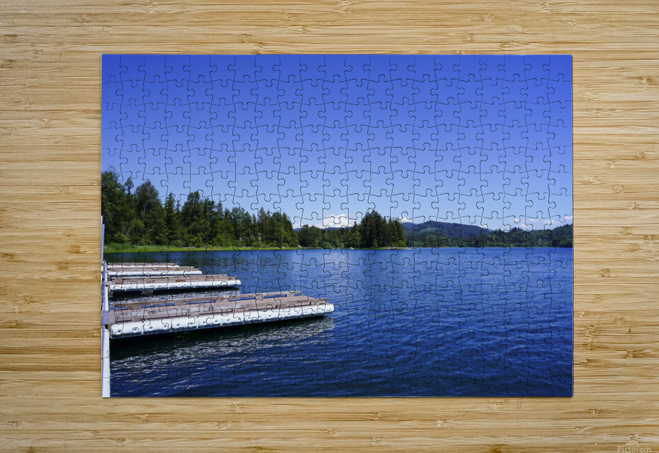 Alder Lake and Mount Rainier Pacific Northwest United States  HD Metal print with Floating Frame on Back