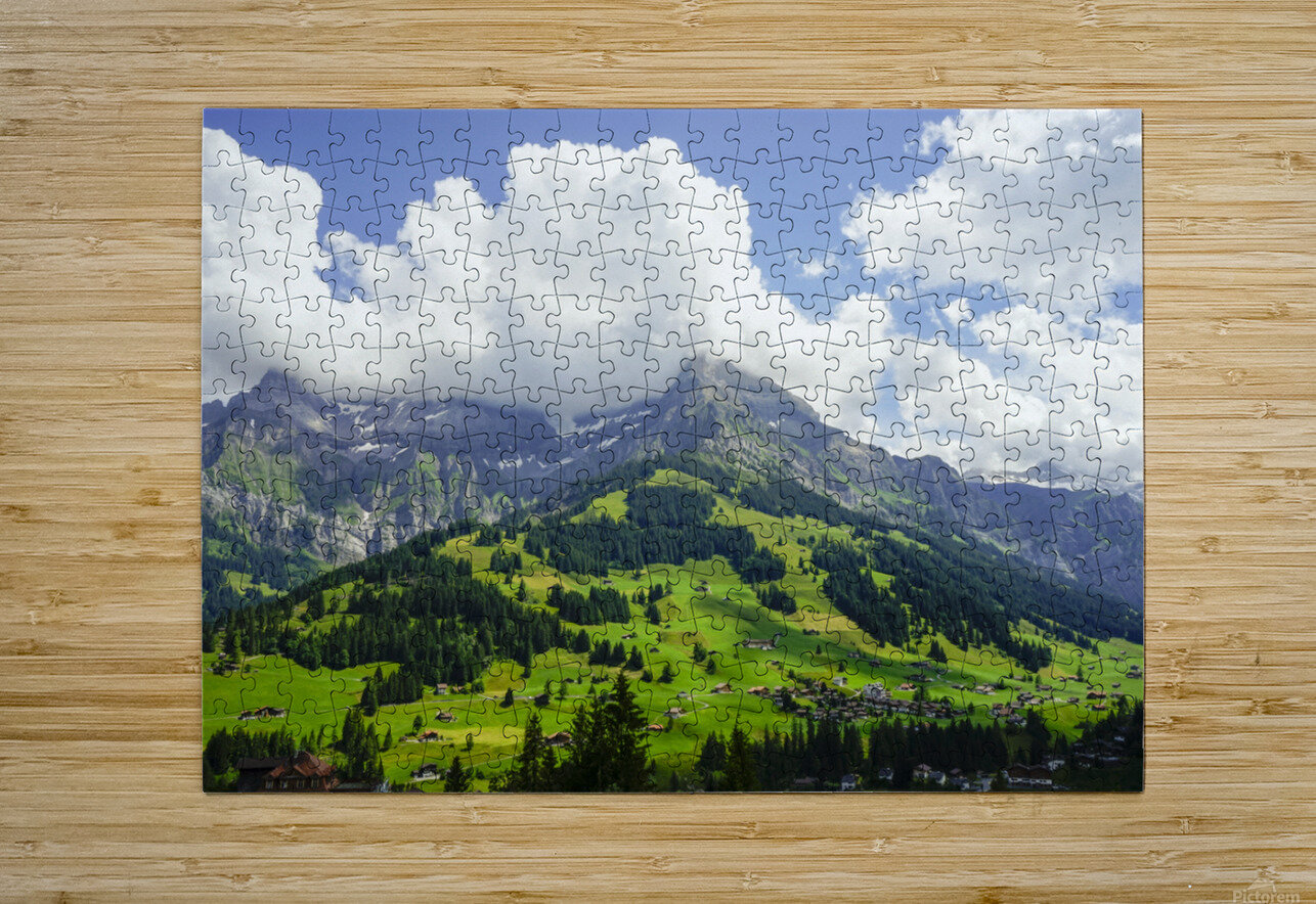 Beautiful Day in the Swiss Alps 2 of 2  HD Metal print with Floating Frame on Back