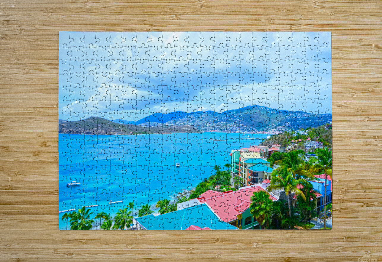 Pacquereau Bay Saint Thomas Caribbean Islands  HD Metal print with Floating Frame on Back