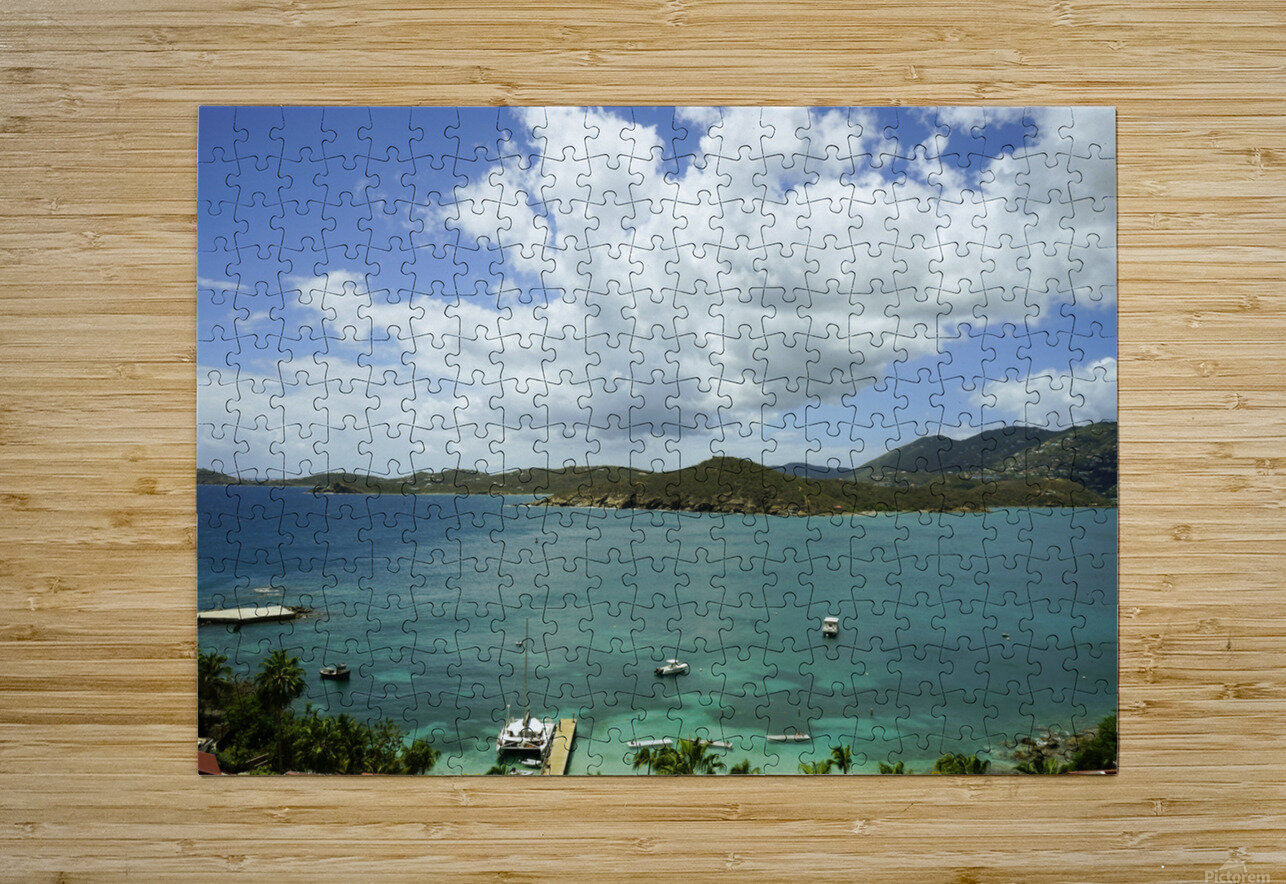 Saint Thomas in the Caribbean Islands  HD Metal print with Floating Frame on Back