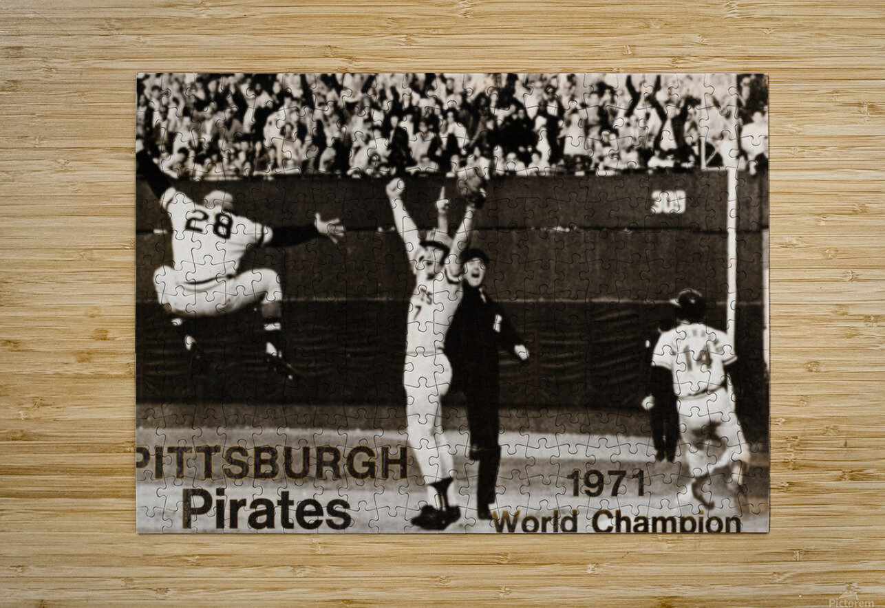 1971 Pittsburgh Pirates World Champions Art  HD Metal print with Floating Frame on Back