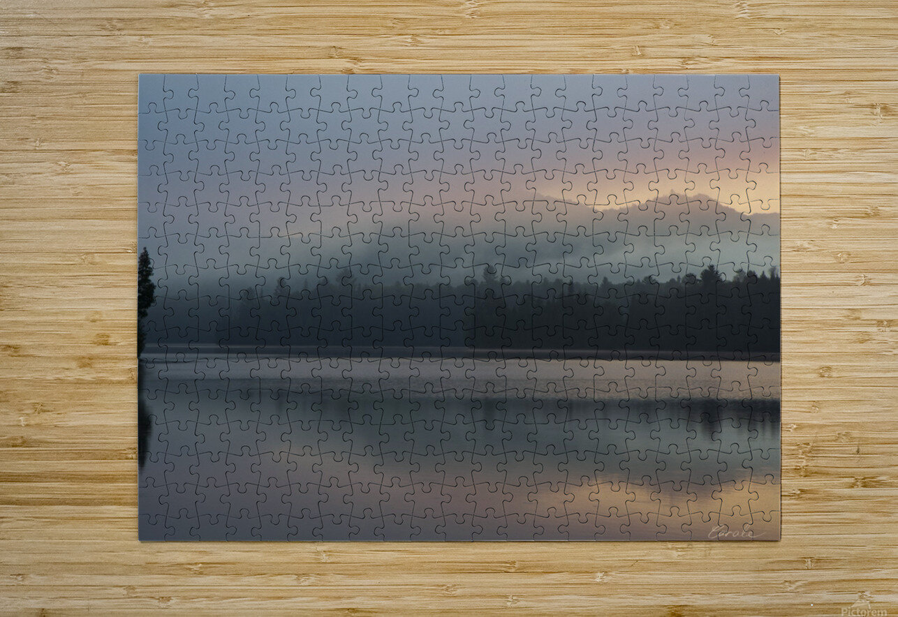 Lever de soleil sur le lac Earhart  1 - Sunrise on Earhart Lake  1  HD Metal print with Floating Frame on Back
