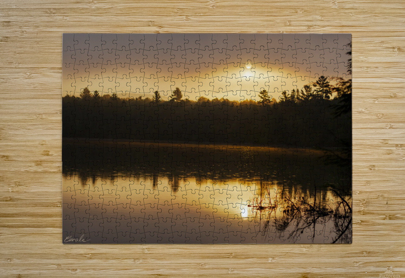 Lever de soleil sur le lac Earhart  2 - Sunrise on Earhart Lake 2  HD Metal print with Floating Frame on Back