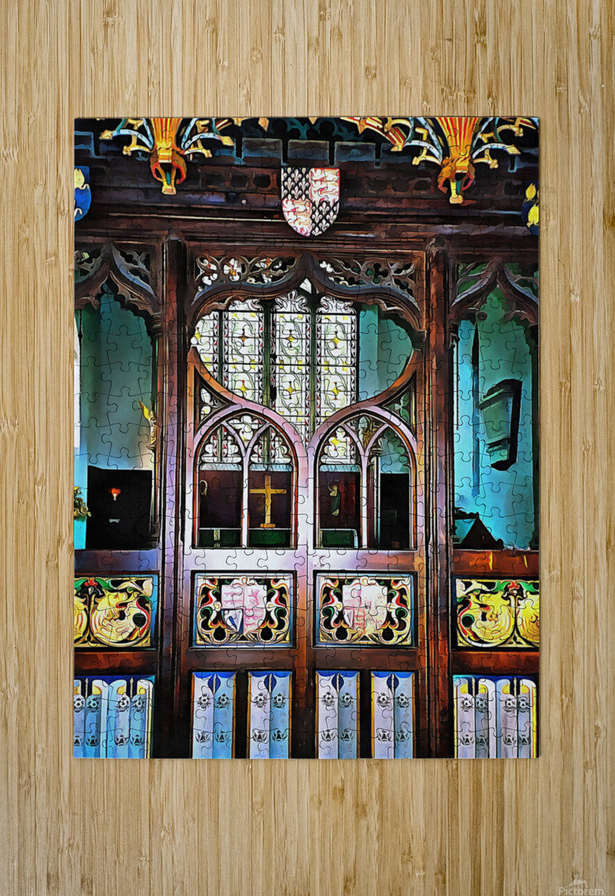 Lound Church Rood Screen 1  HD Metal print with Floating Frame on Back