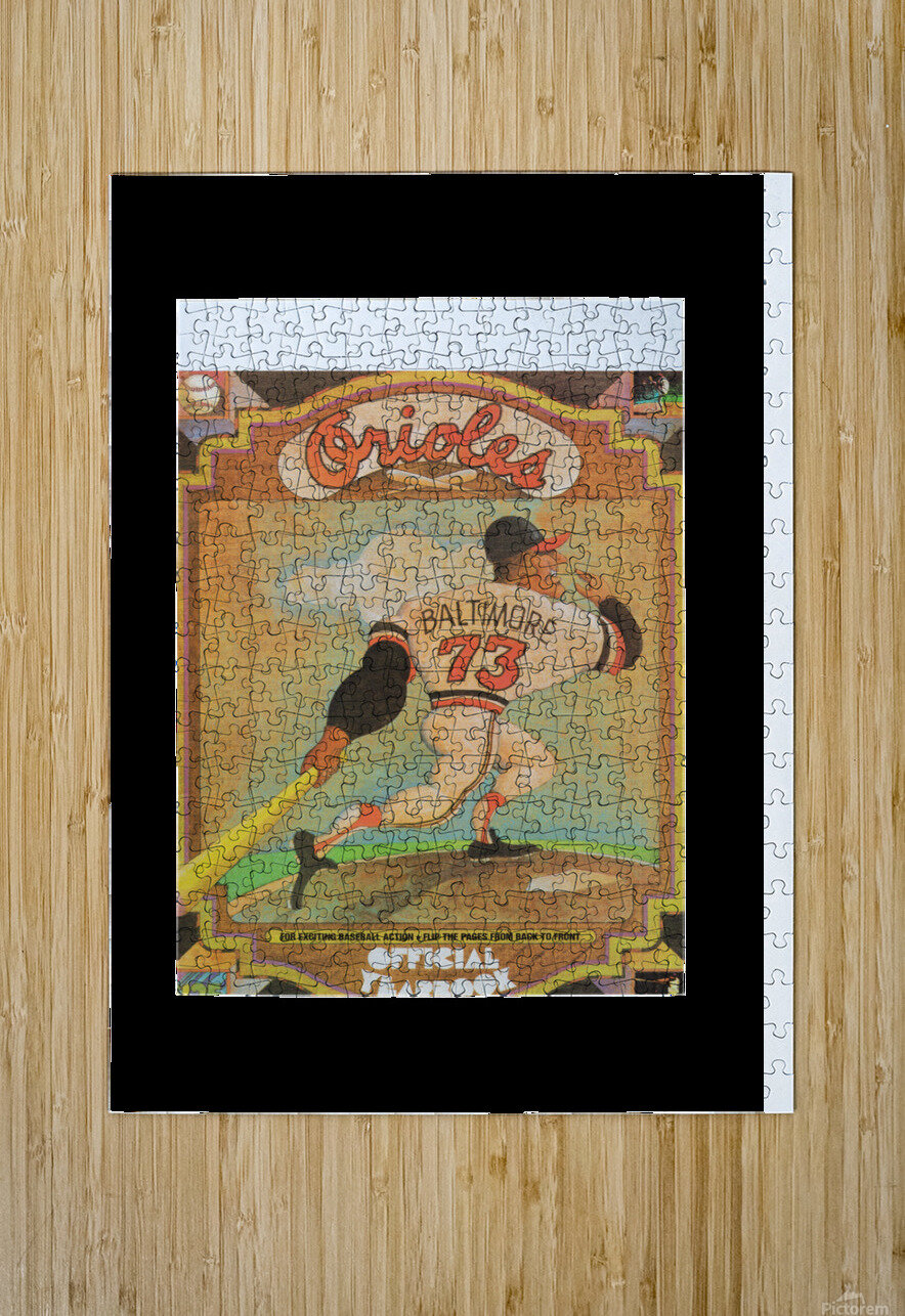 1973 Baltimore Orioles Yearbook Poster  HD Metal print with Floating Frame on Back