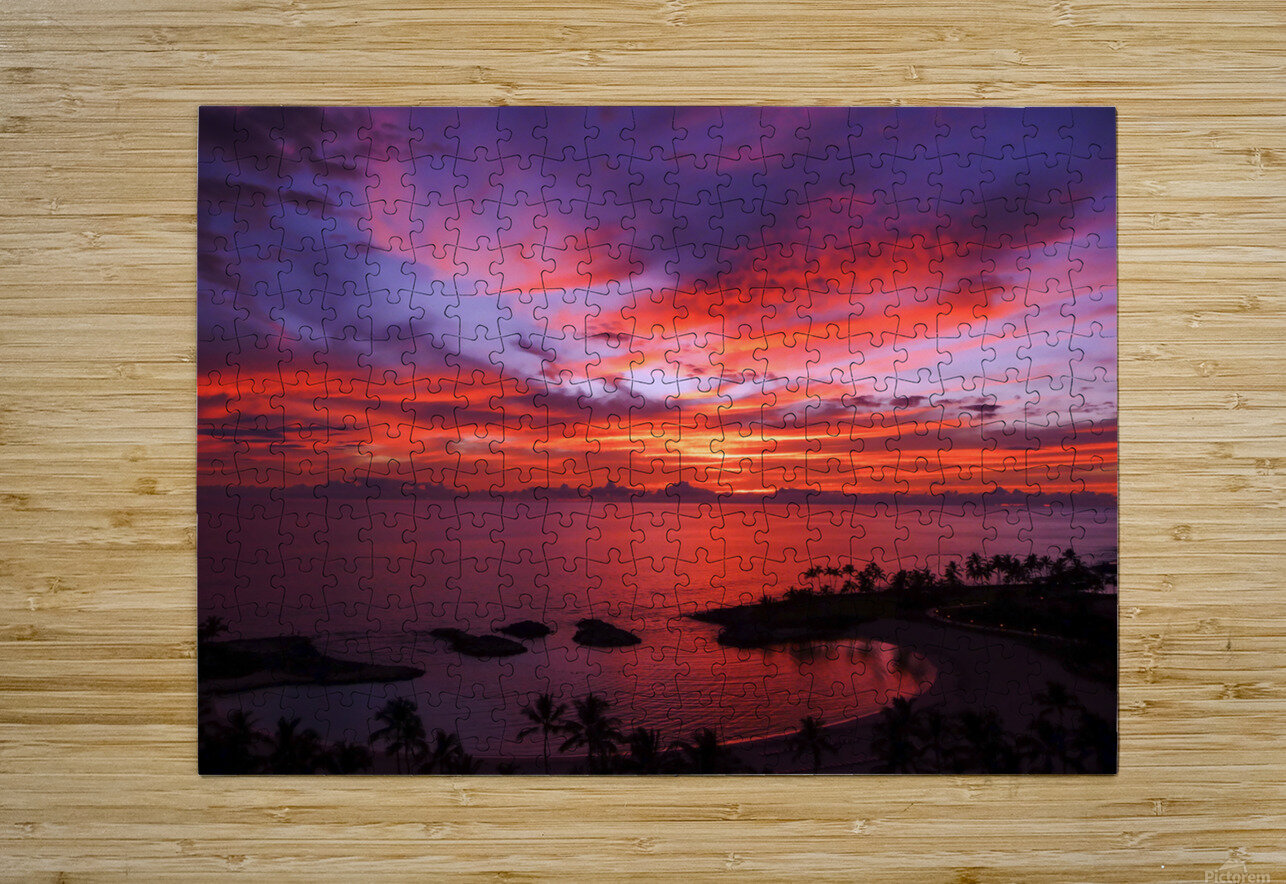 Euphoria Before Bliss - 2013 ARTWORK OF THE YEAR WINNER - Pink and Orange Kissed Skies over Hawaii at Sunset  HD Metal print with Floating Frame on Back