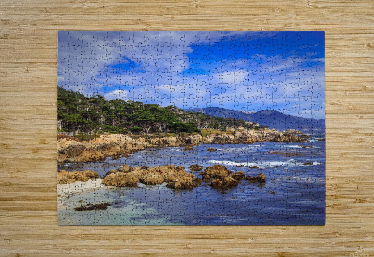 Carmel Coastline  HD Metal print with Floating Frame on Back
