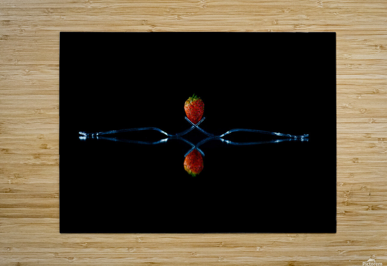 Strawberry Still Life  HD Metal print with Floating Frame on Back