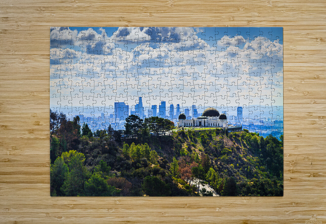 Overlooking Griffith Observatory  HD Metal print with Floating Frame on Back