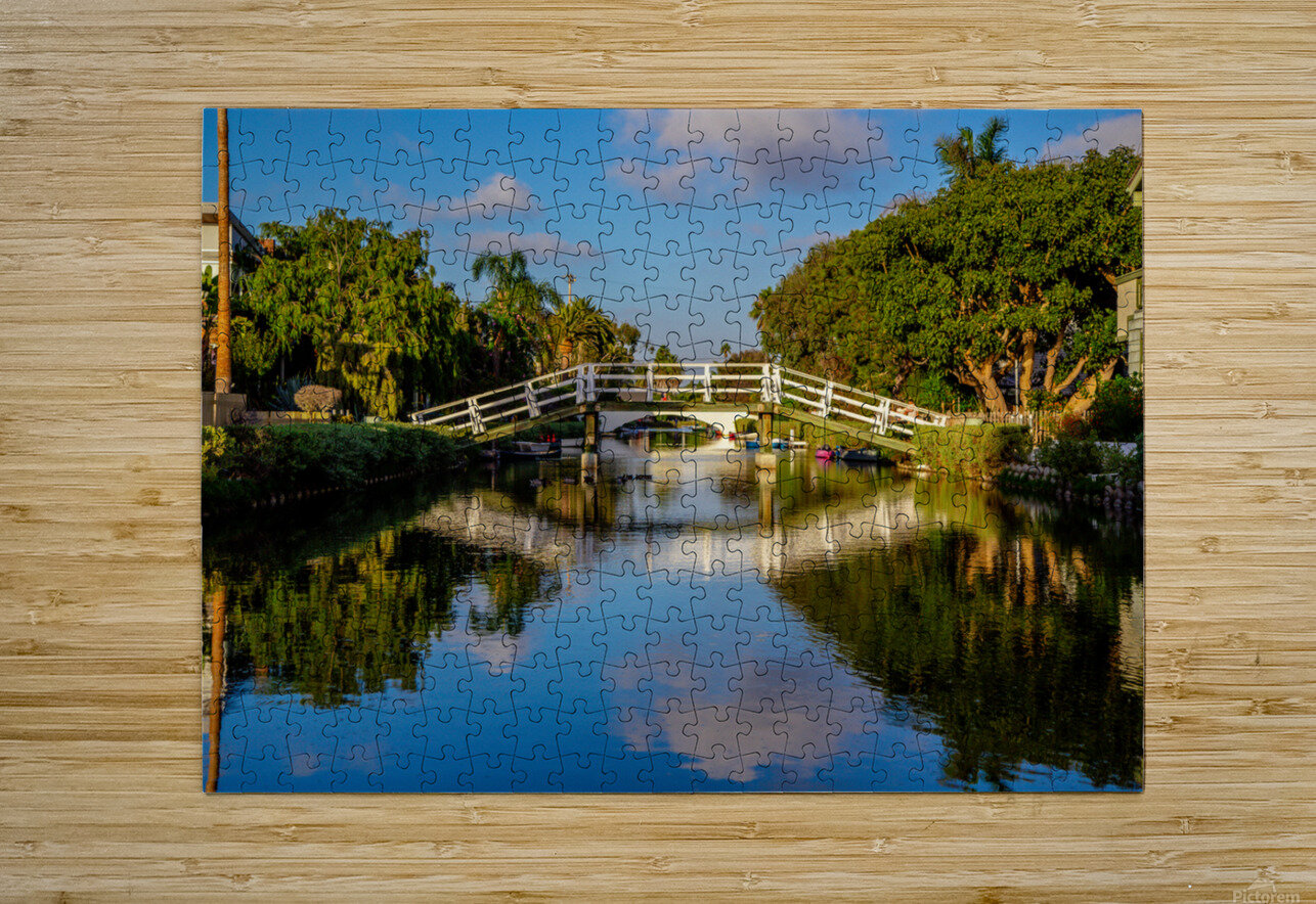 Venice Canal  HD Metal print with Floating Frame on Back