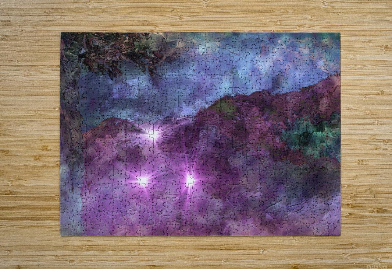 Landscape Mist  HD Metal print with Floating Frame on Back
