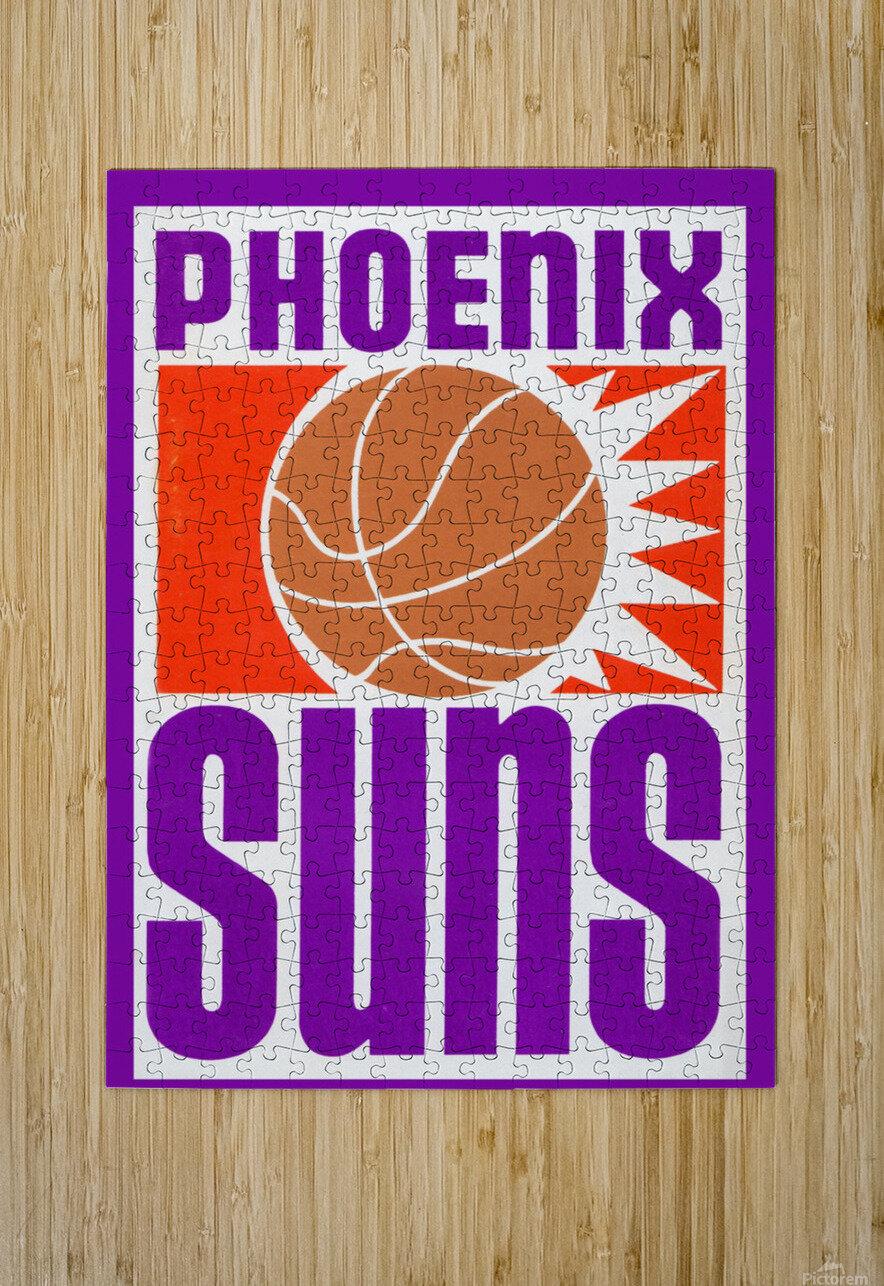 1970 Phoenix Suns Basketball Art  HD Metal print with Floating Frame on Back