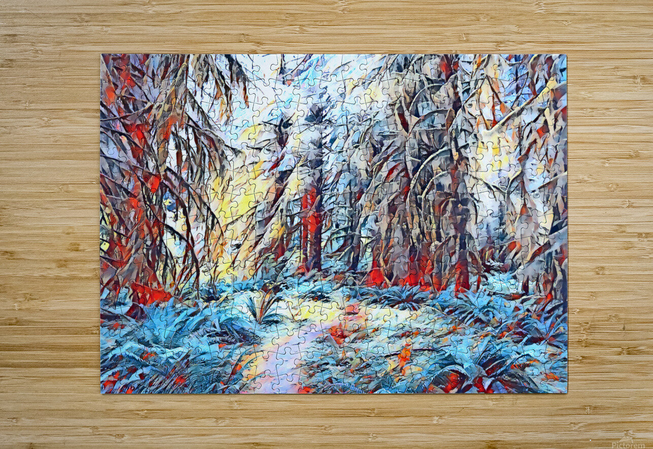 Hoh Rainforest  HD Metal print with Floating Frame on Back