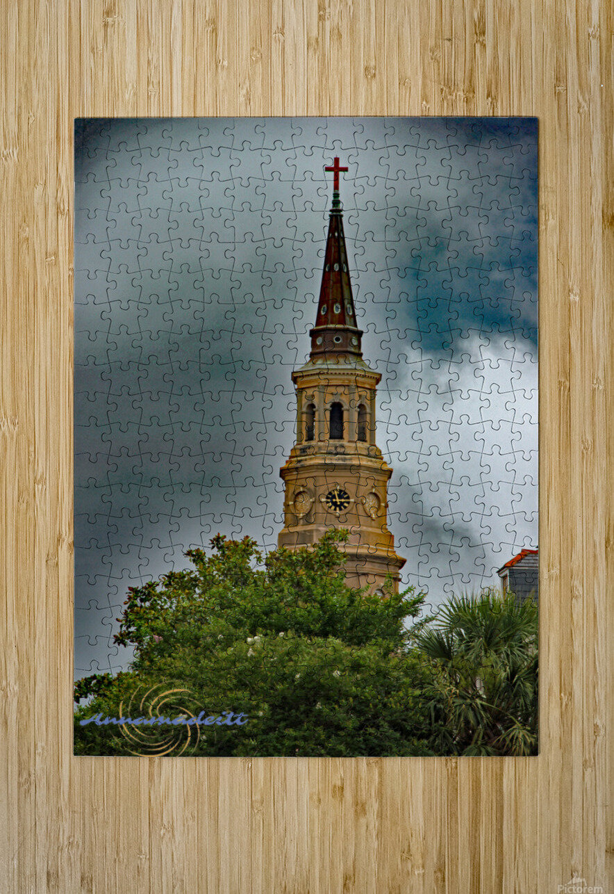 Church  HD Metal print with Floating Frame on Back