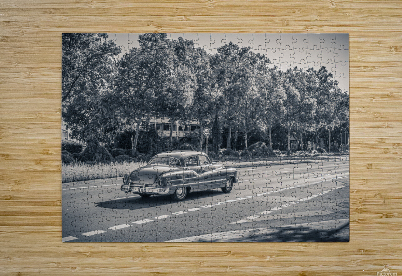 American oldtimer car from the 1950s  HD Metal print with Floating Frame on Back