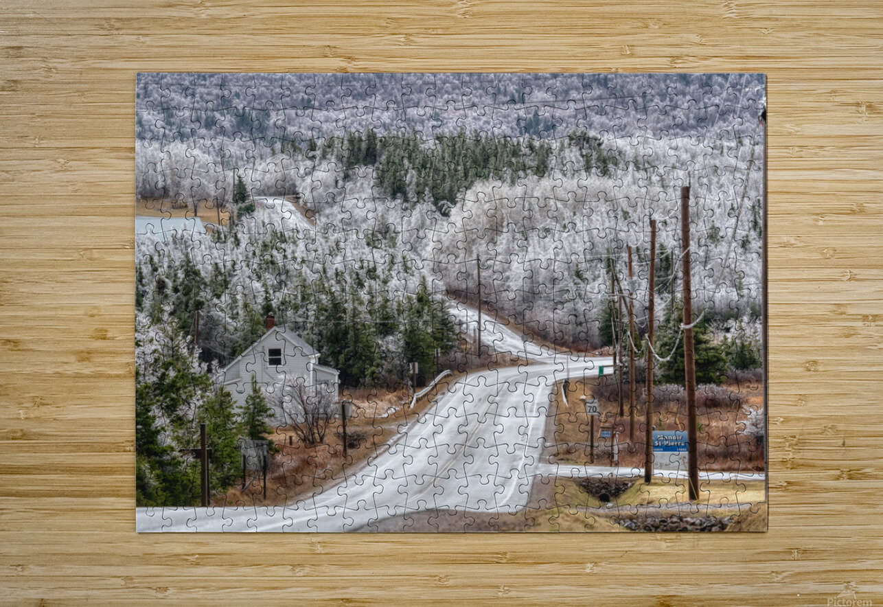 Cheticamp Ice Storm  HD Metal print with Floating Frame on Back