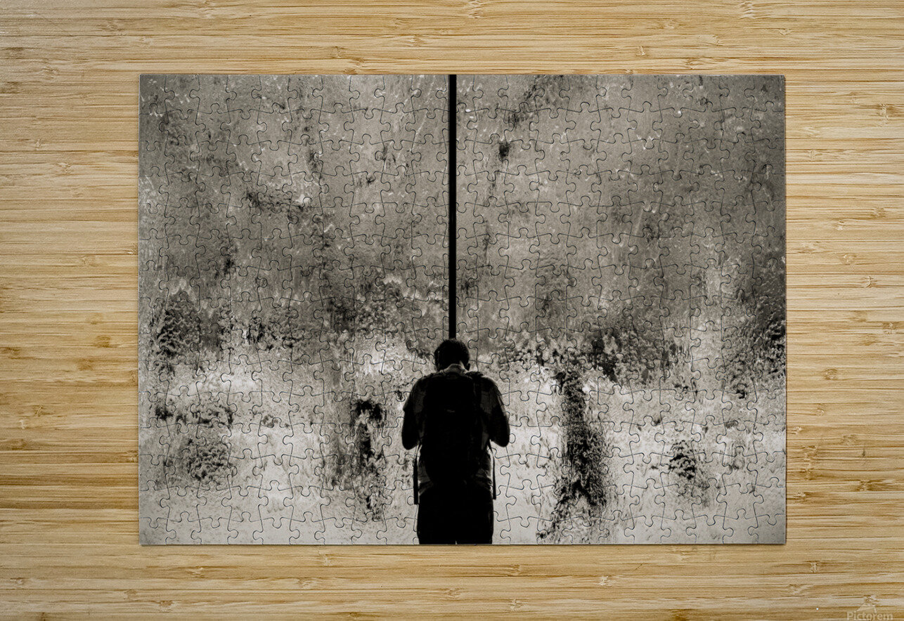 Urban Loneliness - Rain  HD Metal print with Floating Frame on Back