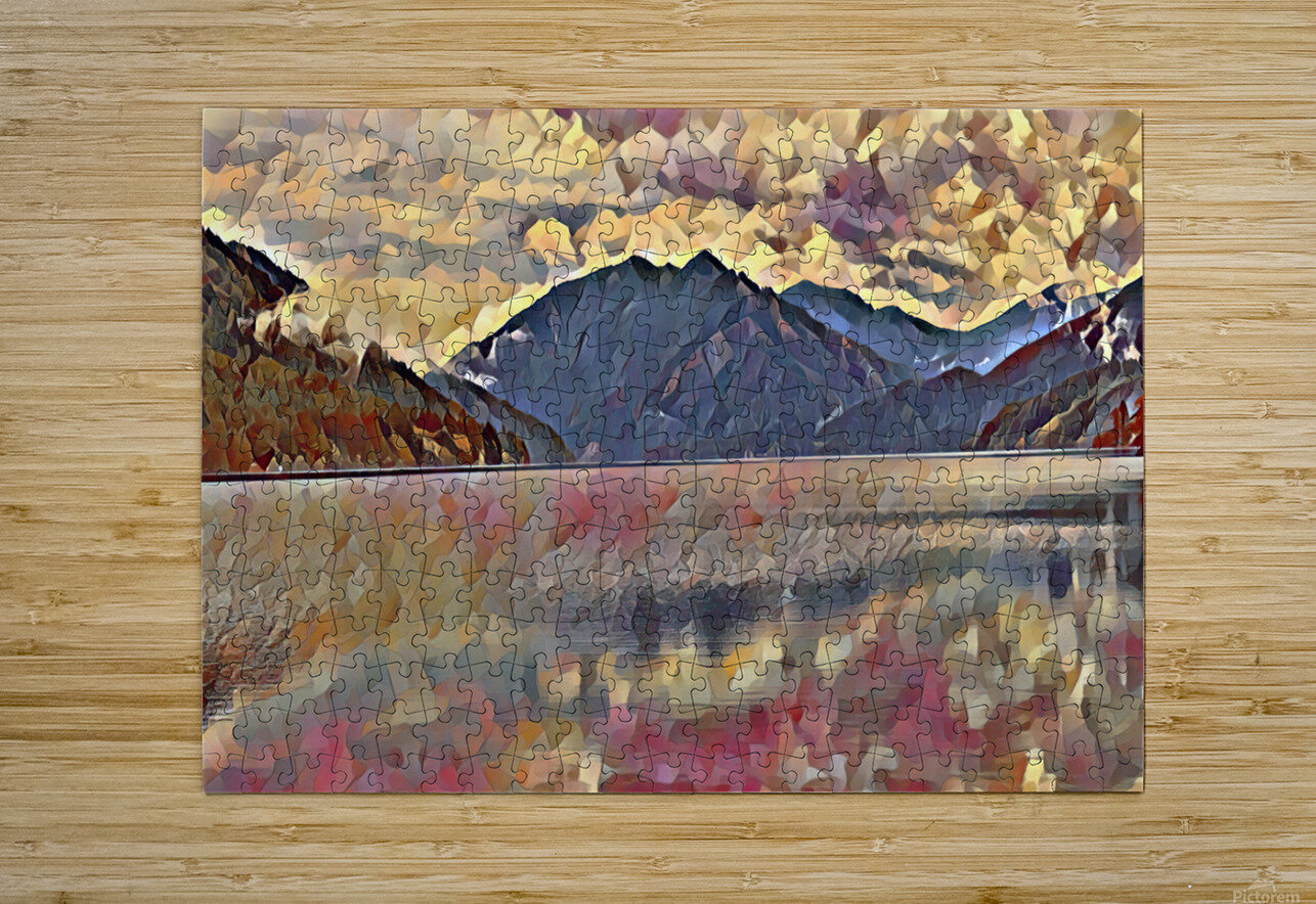 Lake Crescent  HD Metal print with Floating Frame on Back