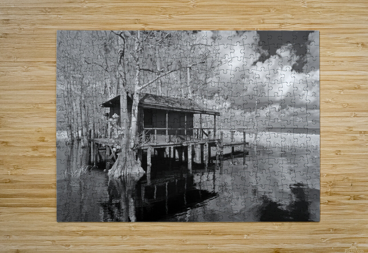 Fish Camp at Blue Cypress Lake Florida  HD Metal print with Floating Frame on Back
