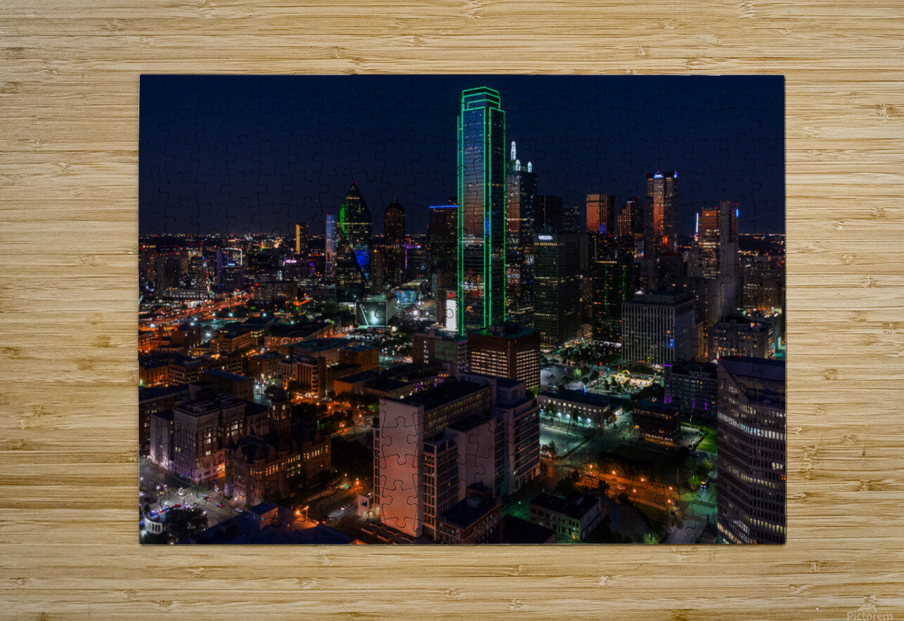 Dallas Skyline  HD Metal print with Floating Frame on Back