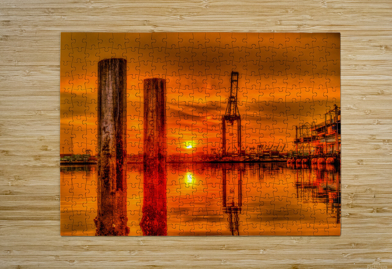 Liquid Gold  HD Metal print with Floating Frame on Back