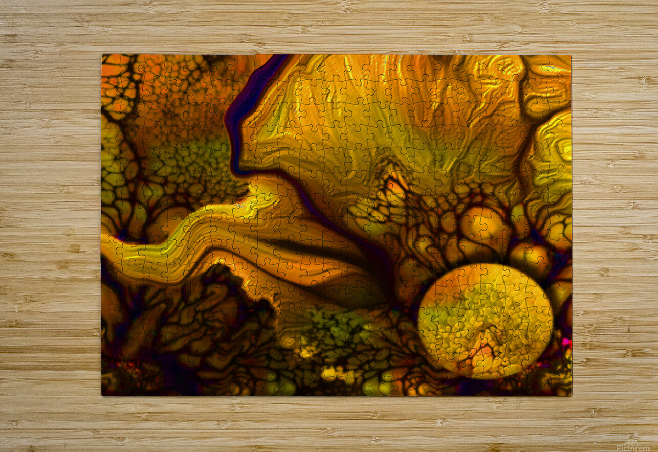 Pollens Summer Glow 2  HD Metal print with Floating Frame on Back