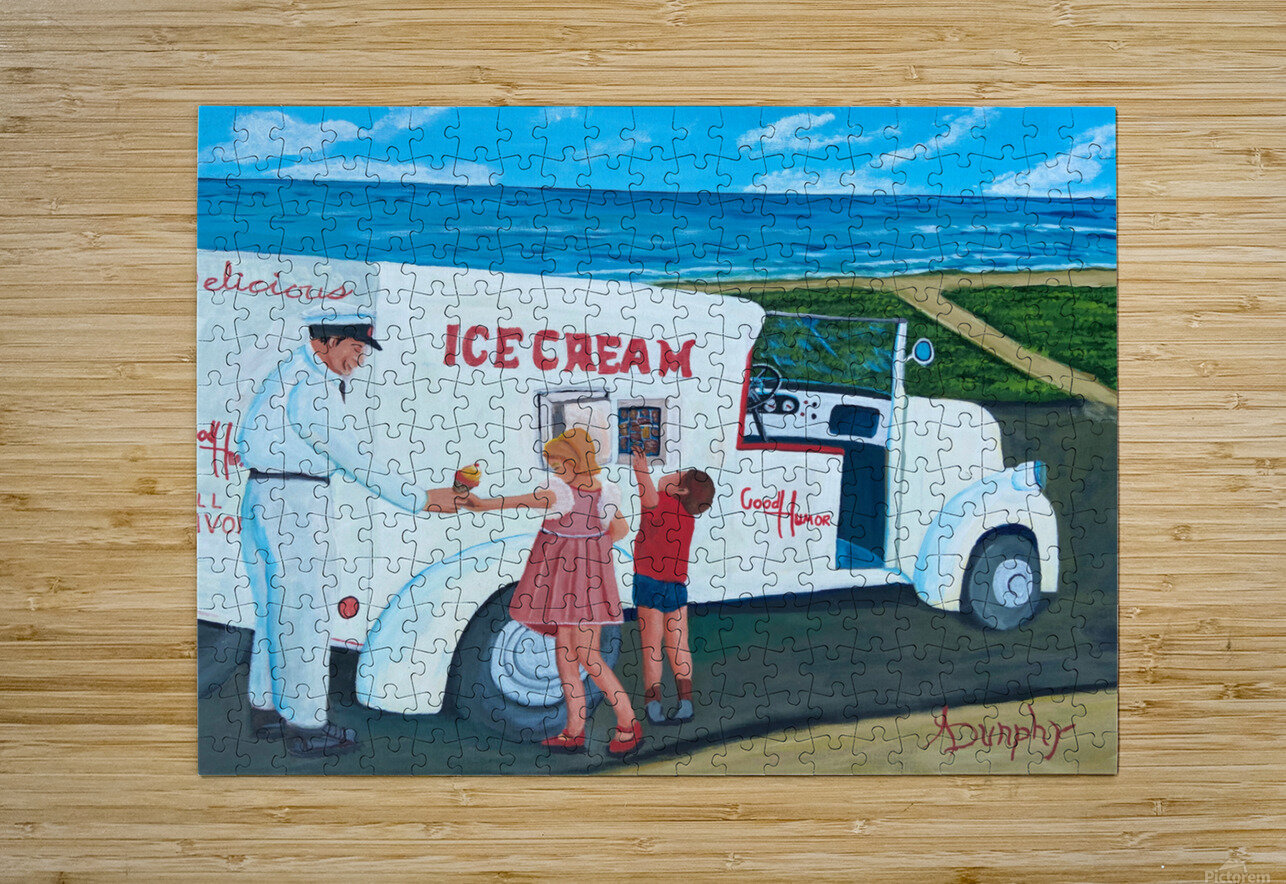 Ice Cream  HD Metal print with Floating Frame on Back