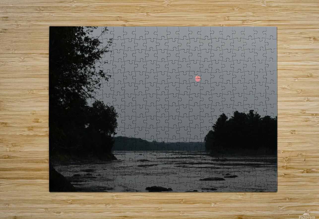 Smog  Impression métal HD avec cadre flottant sur le dos
