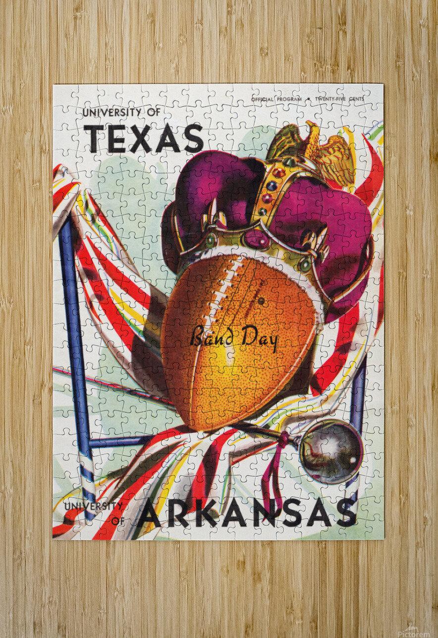 1948 Texas Longhorns vs. Arkansas Razorbacks | Row 1  HD Metal print with Floating Frame on Back