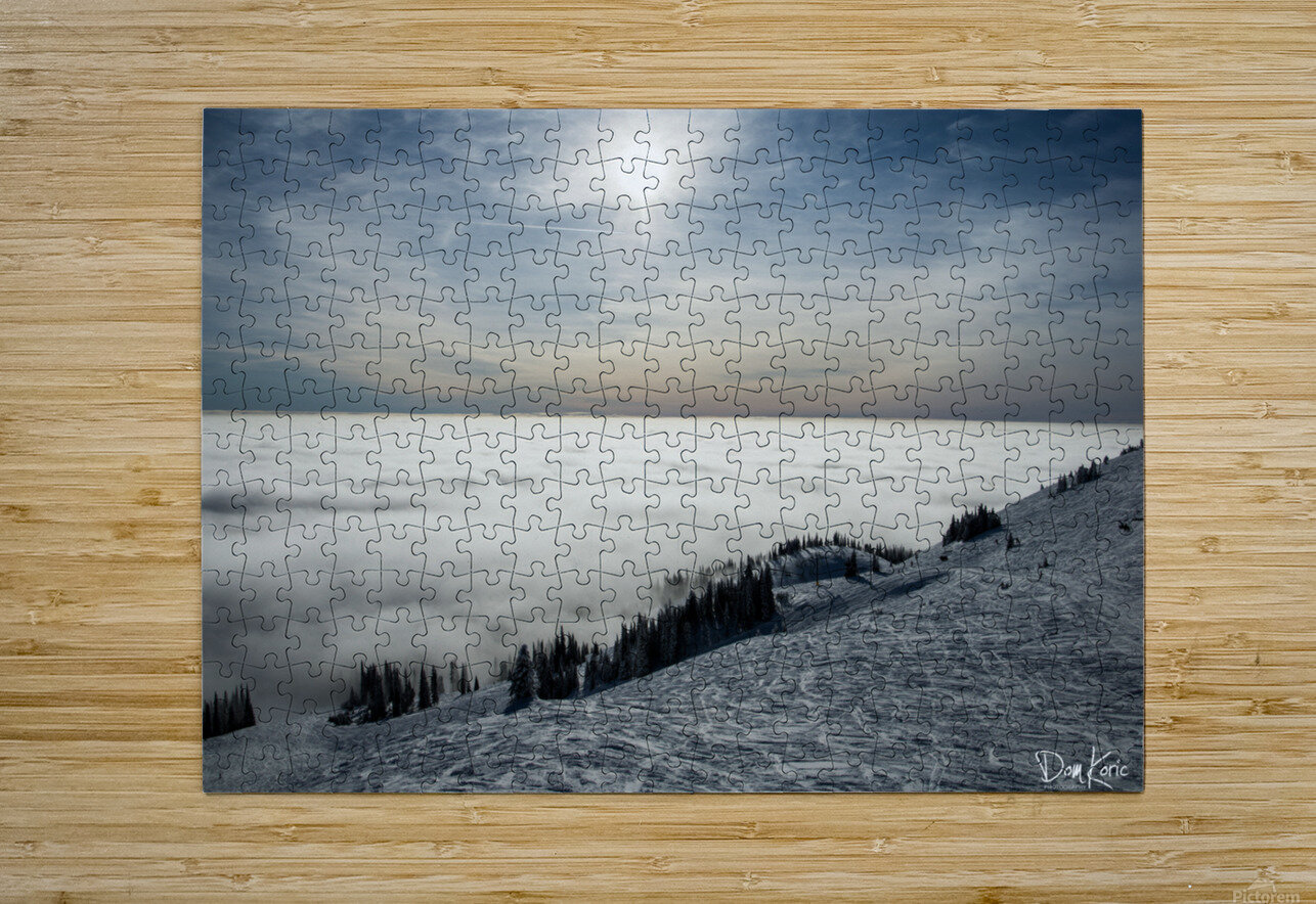 Descent to the Clouds  HD Metal print with Floating Frame on Back