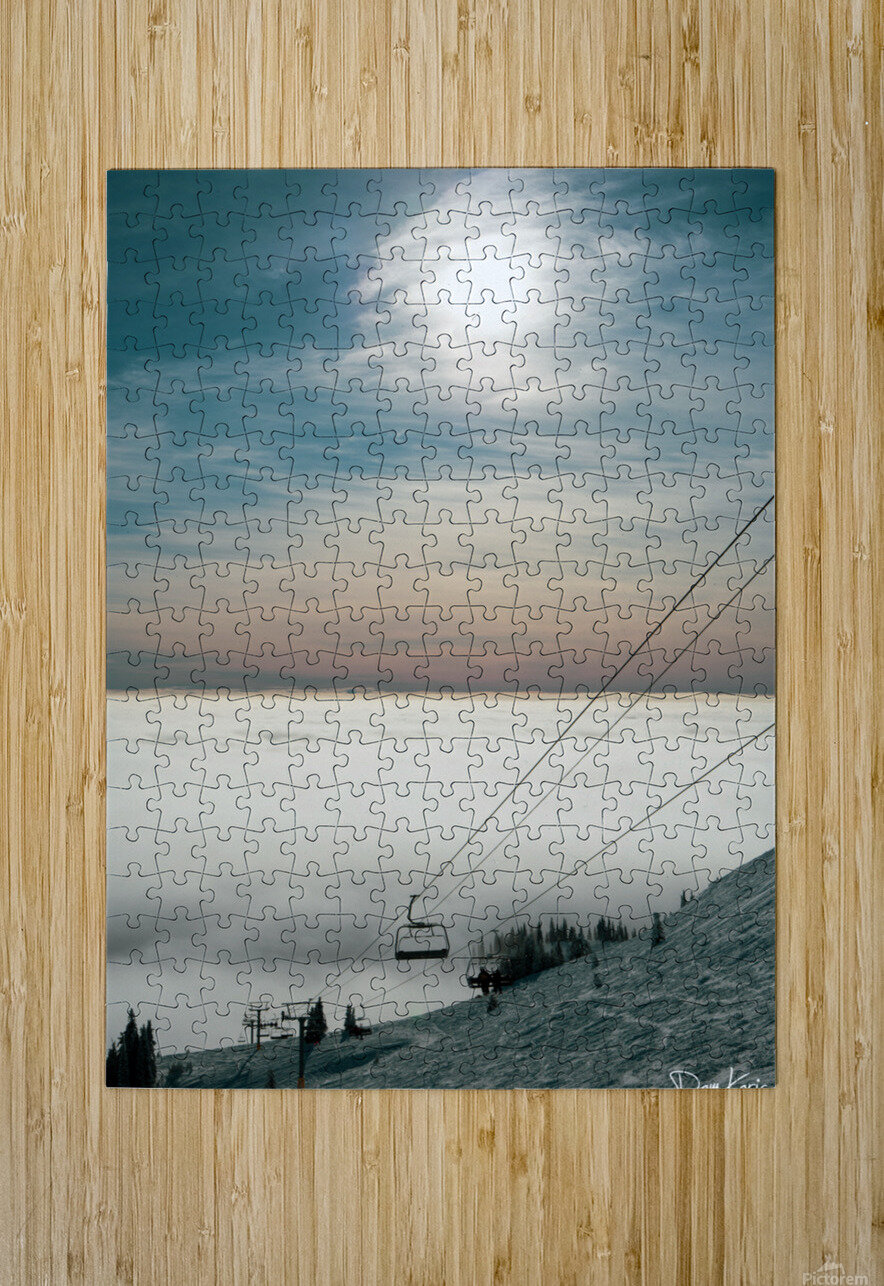Sun Scape  HD Metal print with Floating Frame on Back