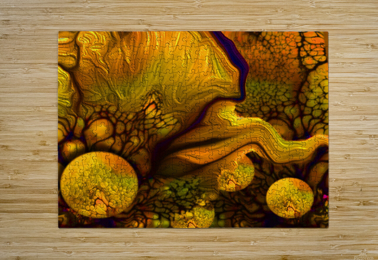 POLLENS SUMMER GLOW 6  HD Metal print with Floating Frame on Back