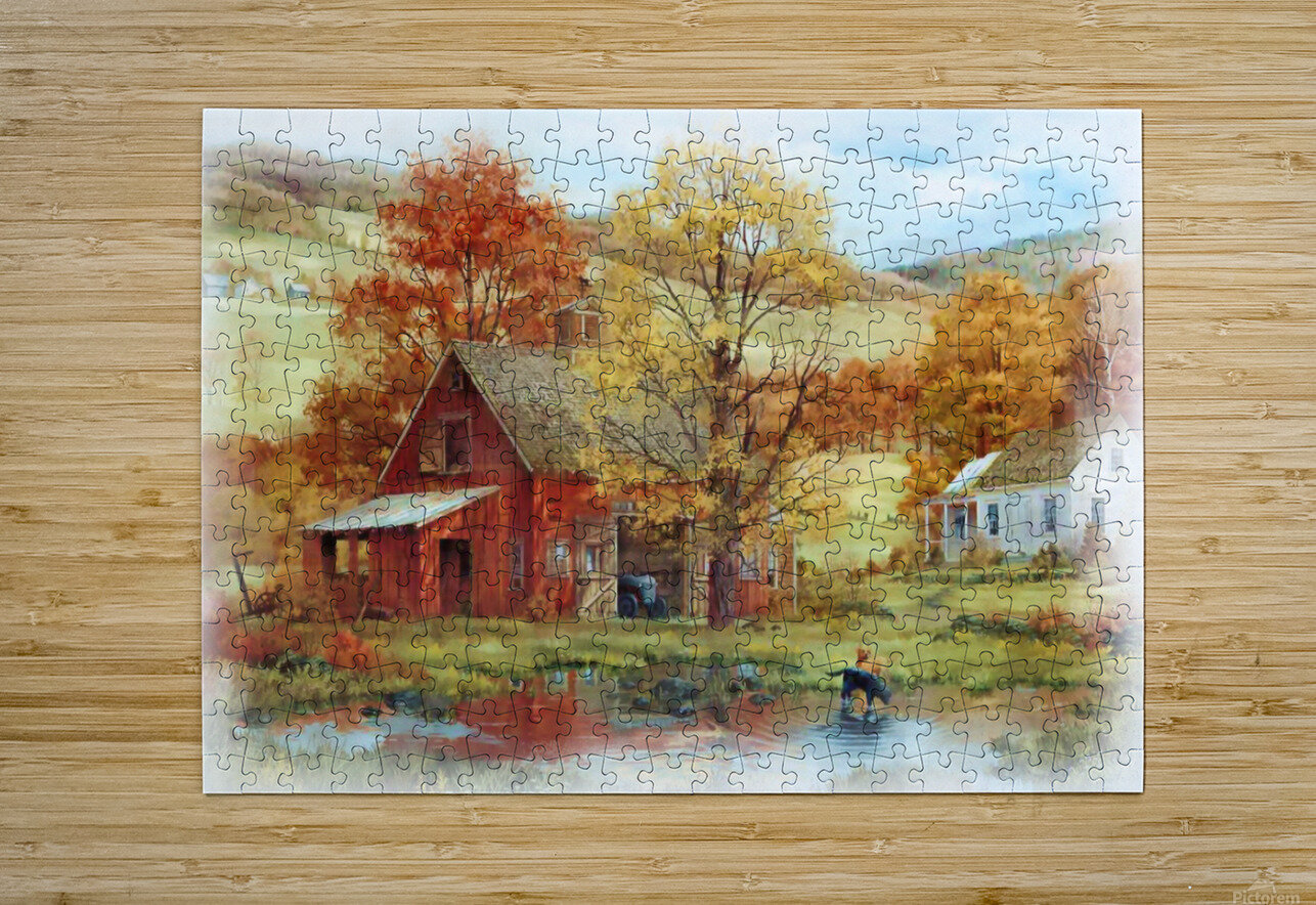 Country Living  HD Metal print with Floating Frame on Back