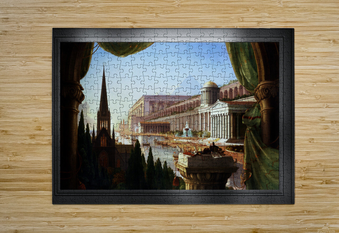 Architects Dream by Thomas Cole Classical Fine Art Xzendor7 Old Masters Reproductions  HD Metal print with Floating Frame on Back