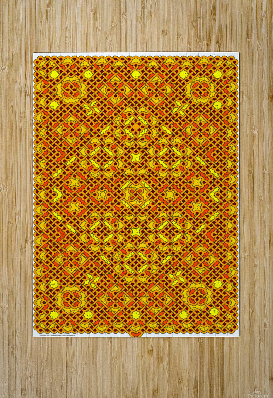 Celtic Maze 5016  HD Metal print with Floating Frame on Back