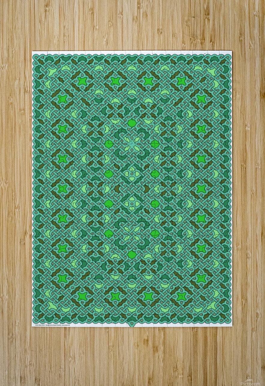 Celtic Maze 5015  HD Metal print with Floating Frame on Back