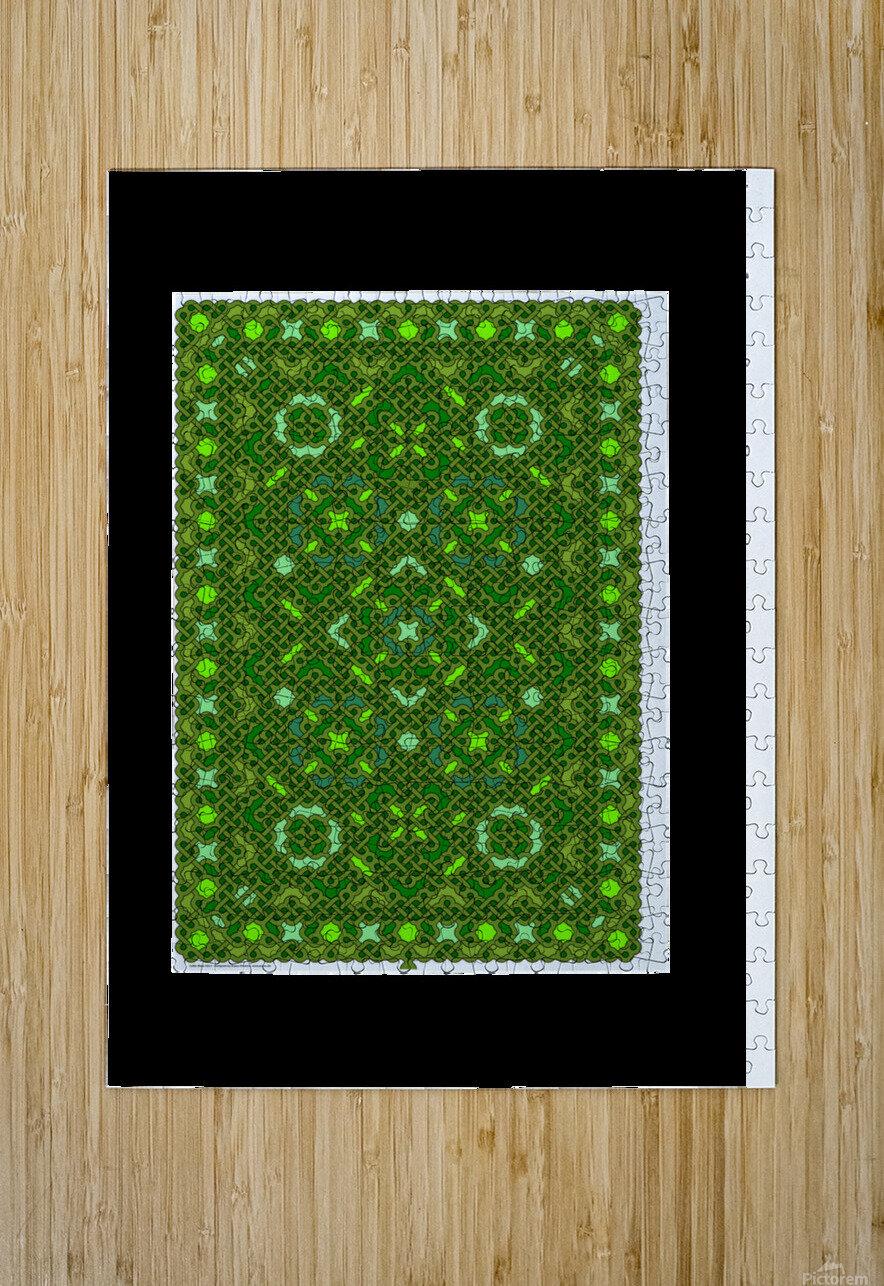 Celtic Maze 5017  HD Metal print with Floating Frame on Back