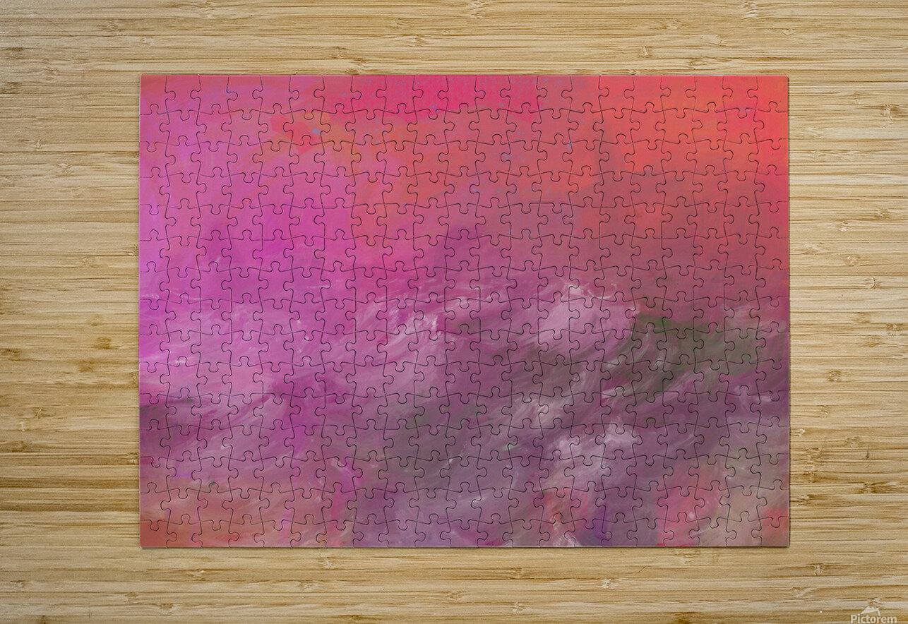 Pink Surf  HD Metal print with Floating Frame on Back