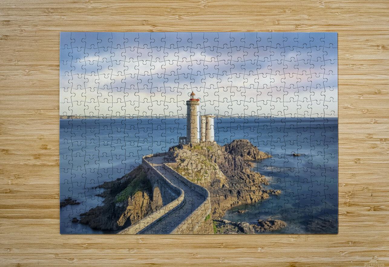 Petit Minou Lighthouse  HD Metal print with Floating Frame on Back