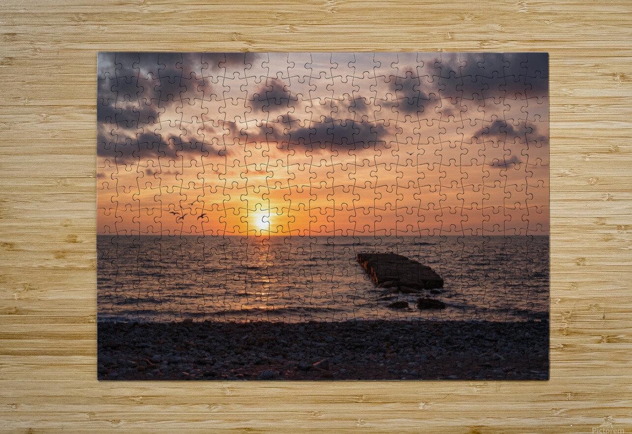Goodnight from la Bloc  HD Metal print with Floating Frame on Back