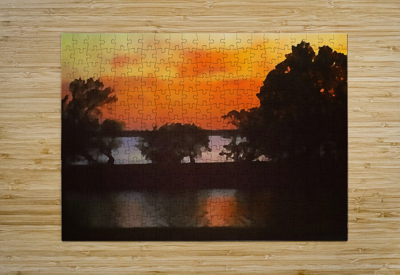 Tranquil Sunset  HD Metal print with Floating Frame on Back