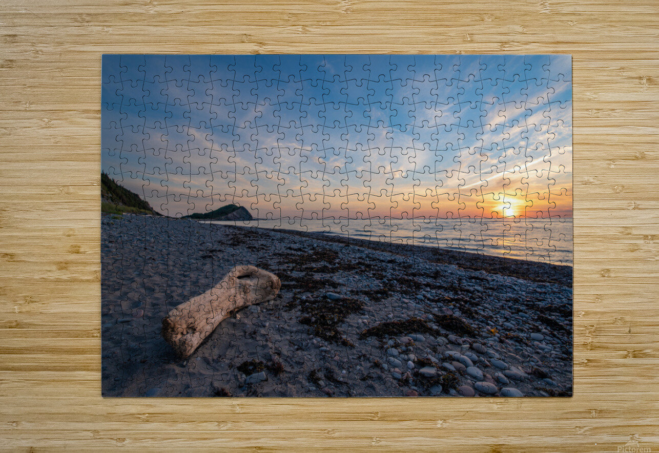 Seaside Sunset  HD Metal print with Floating Frame on Back