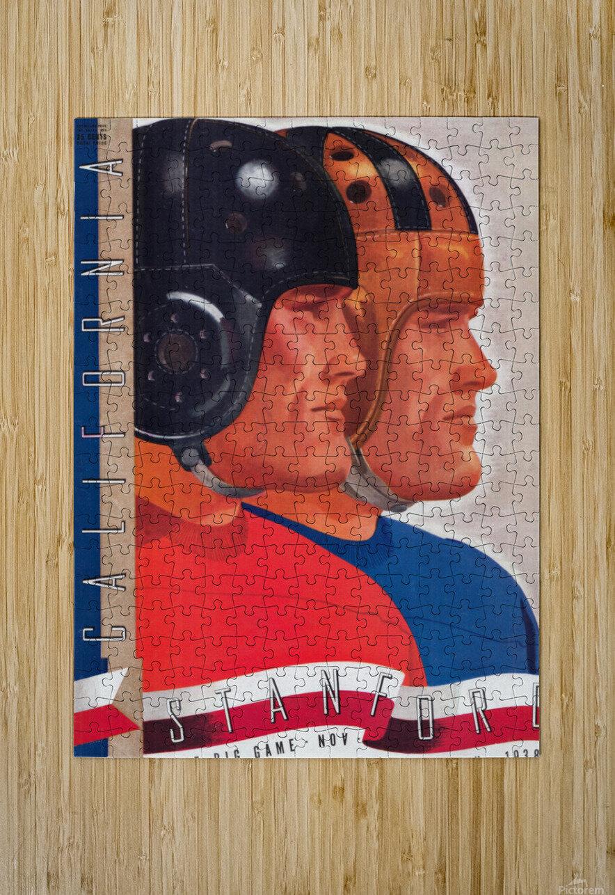 1938 Cal vs. Stanford Big Game Program Cover Art  HD Metal print with Floating Frame on Back
