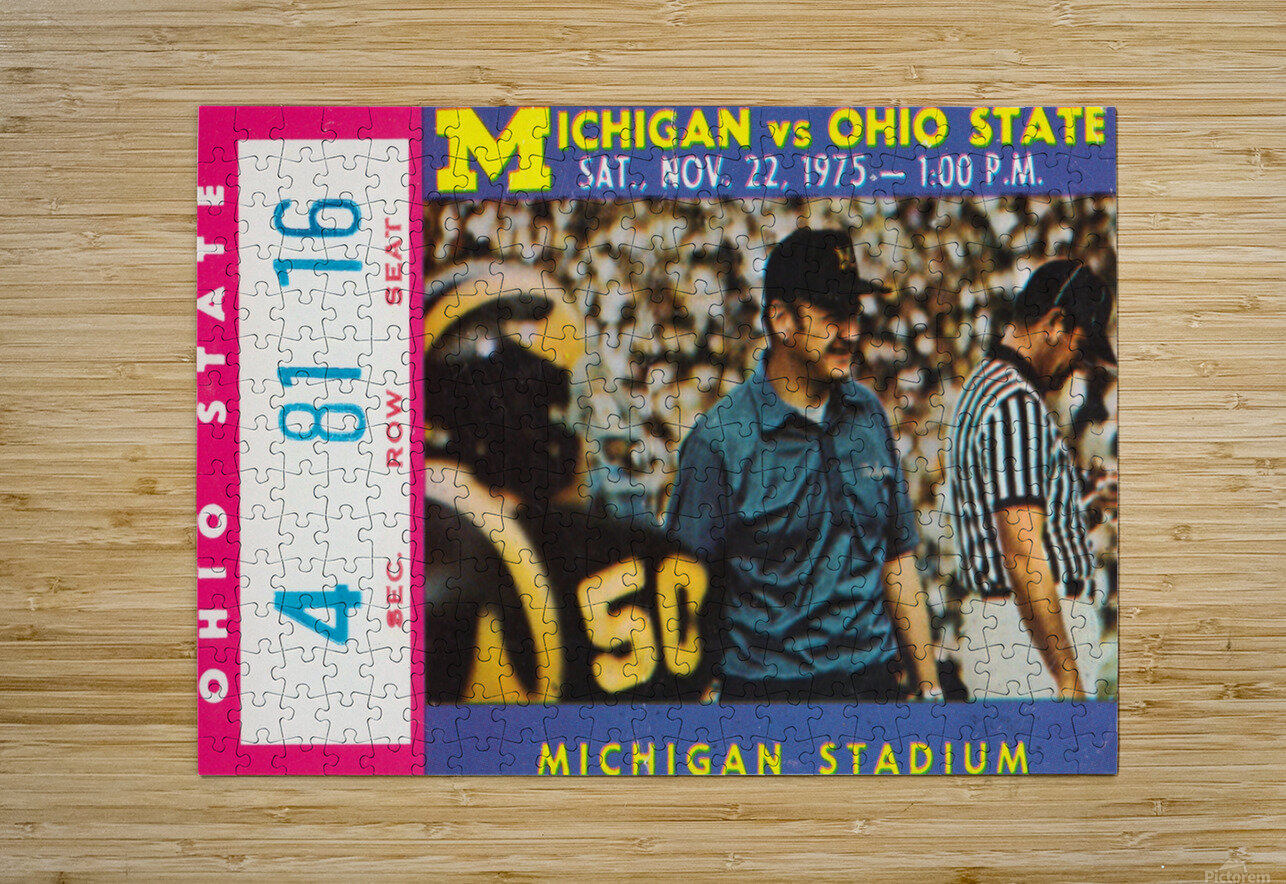 1975 Ohio State vs. Michigan  HD Metal print with Floating Frame on Back