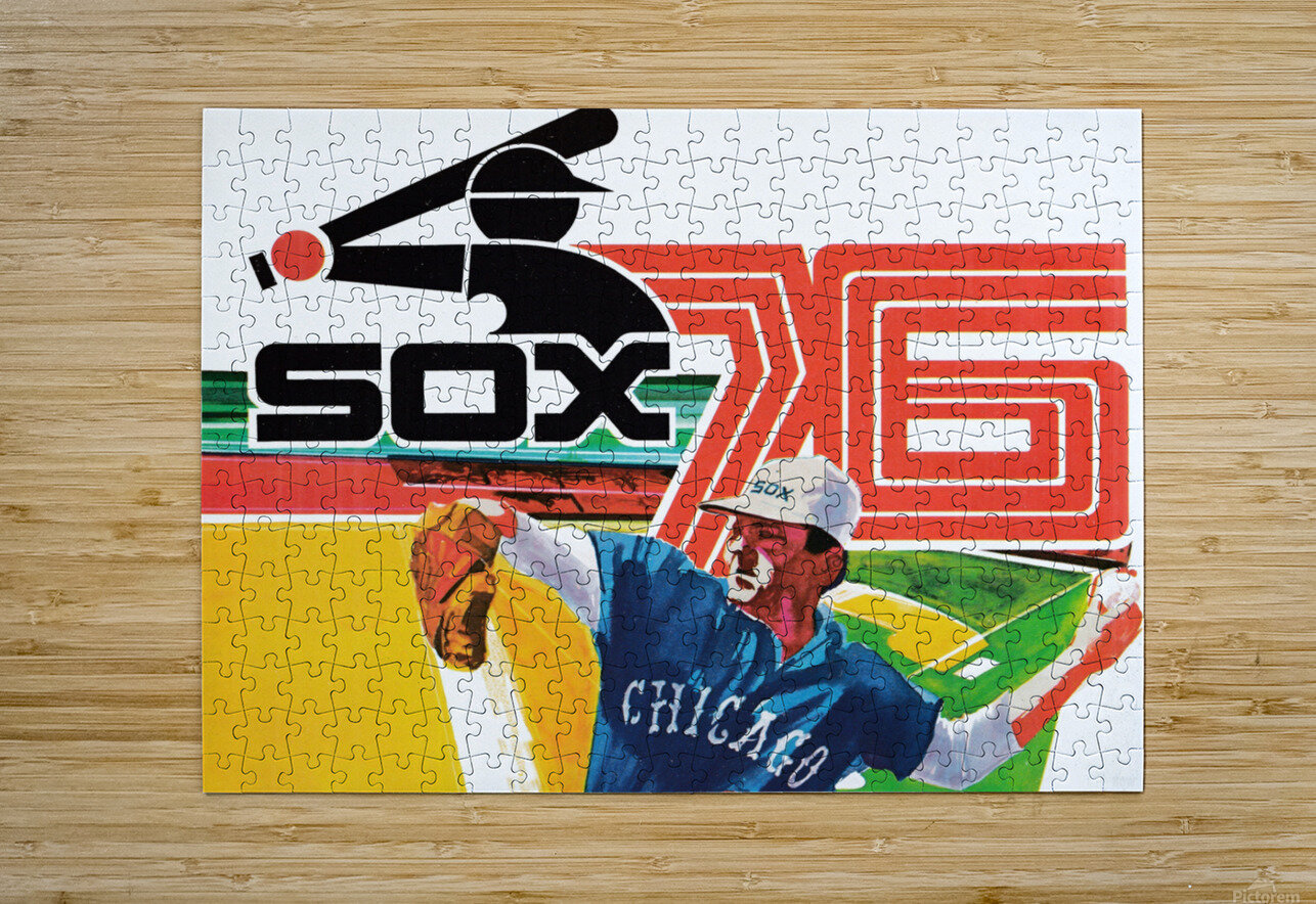 1976 Chicago White Sox Baseball Art  HD Metal print with Floating Frame on Back