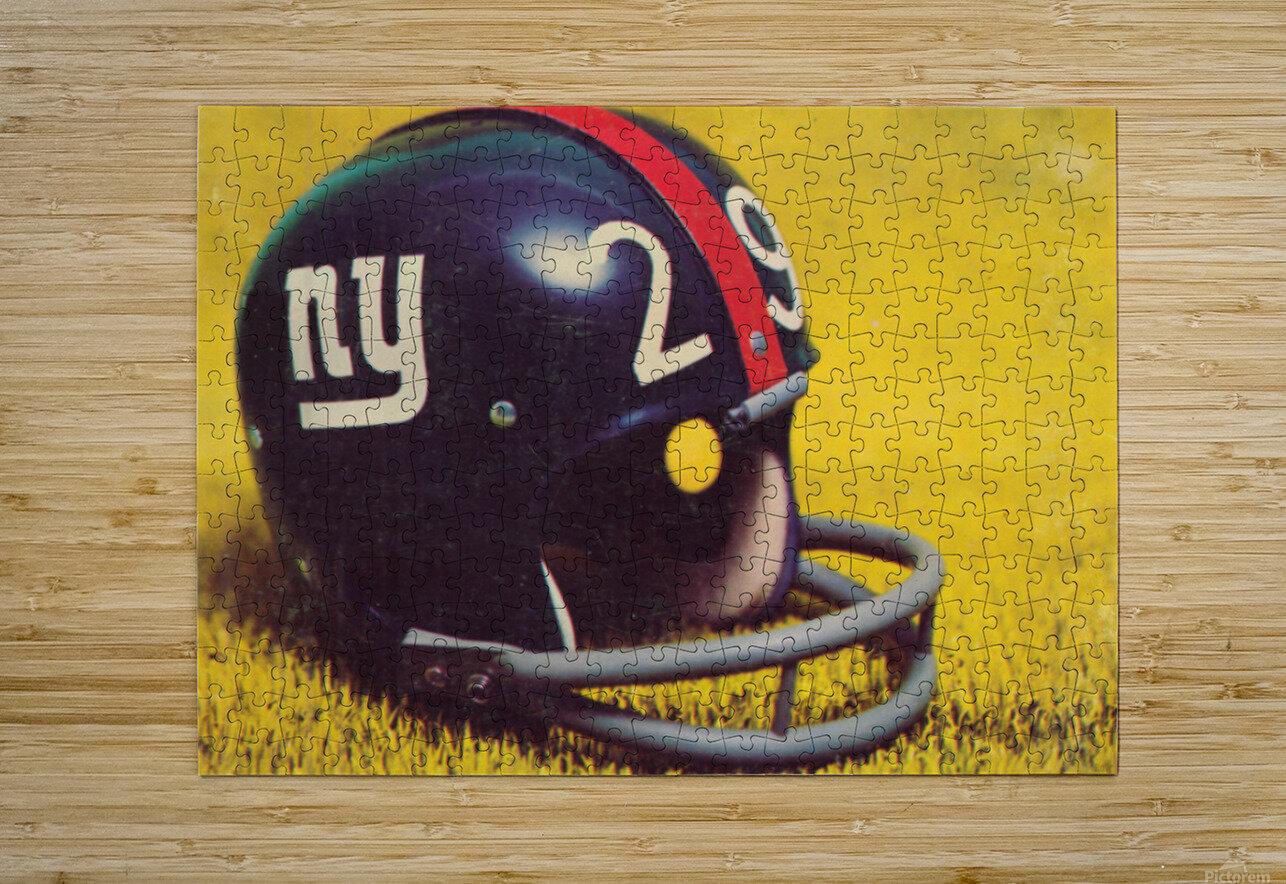 1969 New York Giants Vintage Football Helmet Photo Art  HD Metal print with Floating Frame on Back