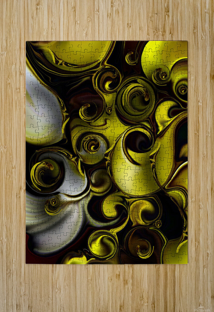 Architectonic Morphism  HD Metal print with Floating Frame on Back