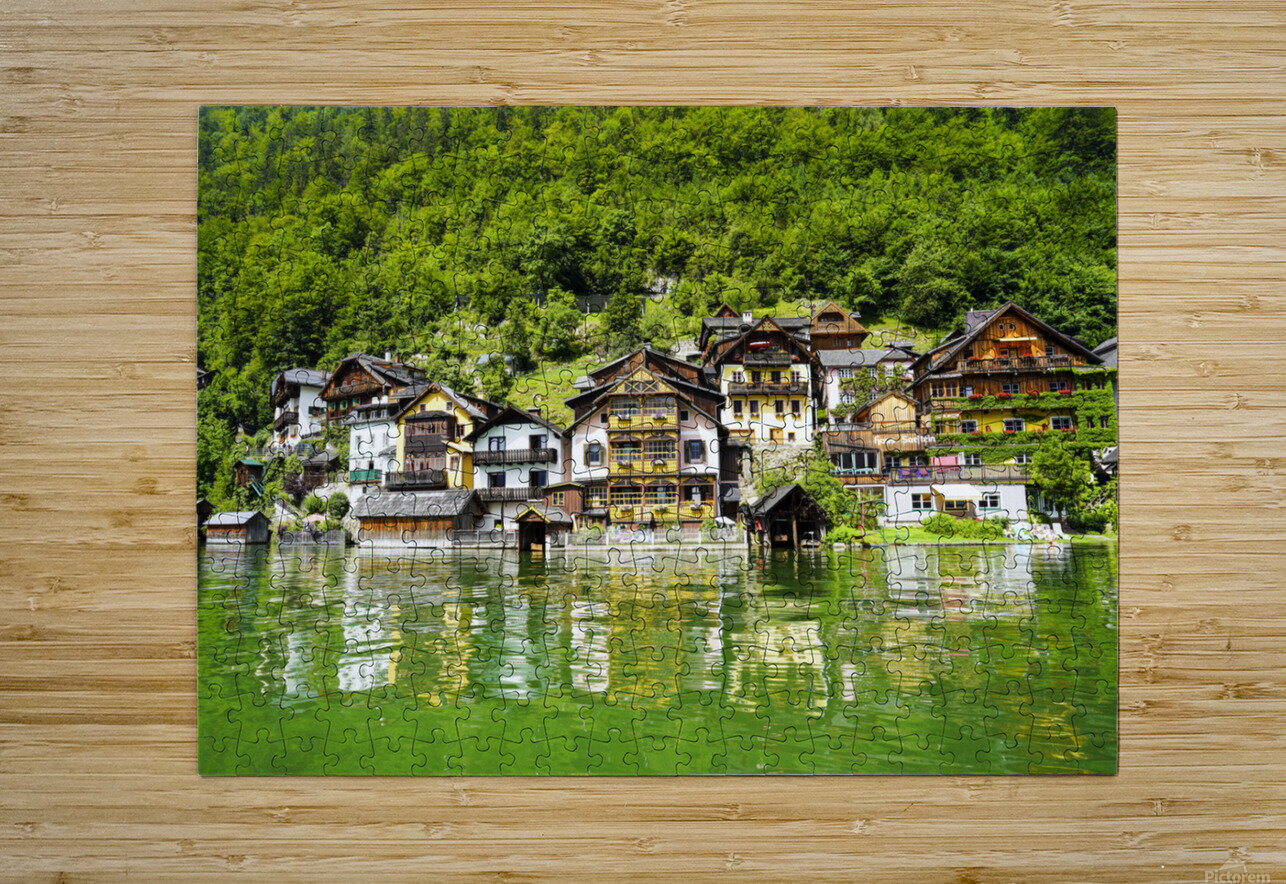 Snapshot in Time Hallstatt in the Upper Austria Alps 1 of 3  HD Metal print with Floating Frame on Back